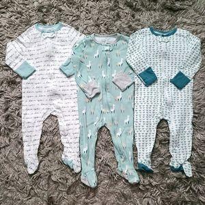 Cloud Island Llama Pajama Bundle for Baby 6-9M